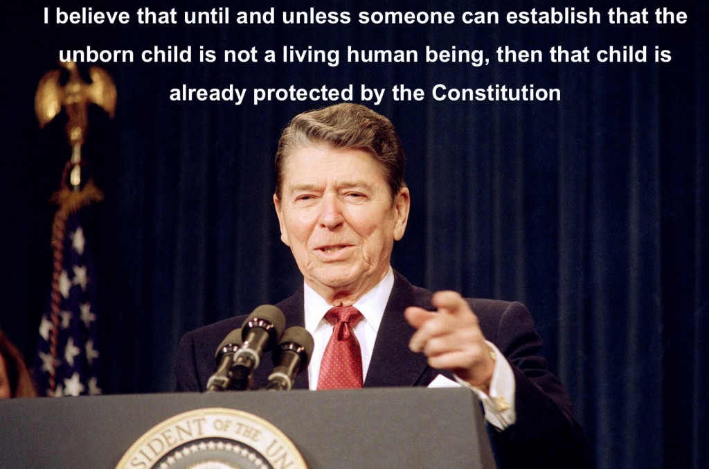 Ronald Reagan on abortion and the constitution